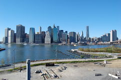 Brooklyn Bridge Park Construction, New York City Stock Image