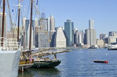 Brooklyn Bridge Park Marina Stock Photo