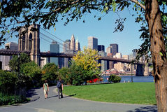 Brooklyn Bridge Park New York USA. Brooklyn Bridge Park is popular with Dumbo area residents of Brooklyn, NYC royalty free stock photography