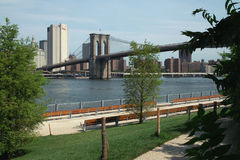 Brooklyn Bridge and Park, New York City USA Royalty Free Stock Photography