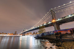 Brooklyn Bridge Park at night Royalty Free Stock Image
