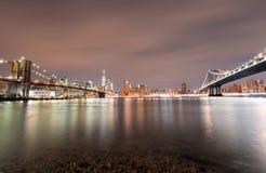 Brooklyn Bridge Park at night Stock Photography