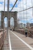 Brooklyn Bridge Pedestrian Walkway Royalty Free Stock Images