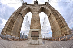 Brooklyn Bridge pylon Stock Photo