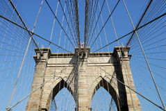 Brooklyn Bridge Pylon, New York Royalty Free Stock Photo