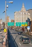 Brooklyn Bridge Roadway. To FDR Drive Royalty Free Stock Photo