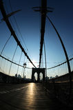 Brooklyn Bridge silhouette stock photos