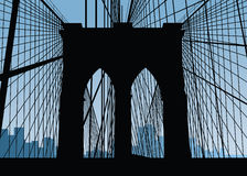 Brooklyn Bridge Silhouette Royalty Free Stock Photo