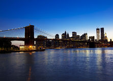 Brooklyn bridge and skyline Royalty Free Stock Photo