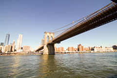 Brooklyn bridge in a sunny day Royalty Free Stock Photos