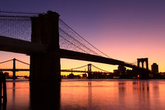 Brooklyn bridge sunrise New York Royalty Free Stock Photography