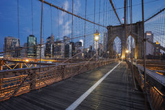 Brooklyn Bridge at sunrise Royalty Free Stock Photos