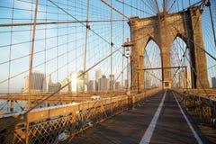 Brooklyn Bridge at sunrise, New York City Royalty Free Stock Photos