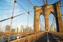Brooklyn Bridge at sunrise, New York City Royalty Free Stock Photography