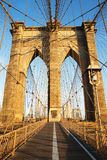 Brooklyn Bridge at sunrise, New York City Royalty Free Stock Images