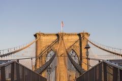 Brooklyn Bridge Sunset stock image