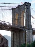 Brooklyn Bridge with sunset light royalty free stock photography