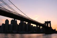 Brooklyn Bridge At Sunset Royalty Free Stock Photos