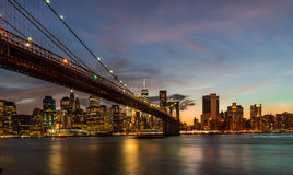 Brooklyn Bridge at sunset Royalty Free Stock Image
