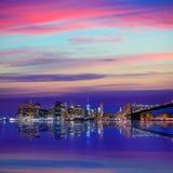 Brooklyn Bridge sunset New York Manhattan Stock Image
