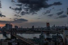 Brooklyn Bridge At Sunset royalty free stock photography