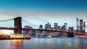 Brooklyn Bridge timelapse stock video footage