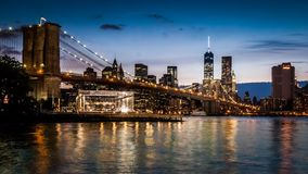 Brooklyn Bridge timelapse - part 2 stock video footage