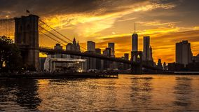 Brooklyn Bridge timelapse - part 1 stock footage