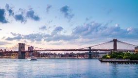 Brooklyn Bridge timelapse stock footage