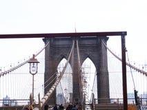 Brooklyn Bridge tourists , New York Stock Image