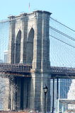 Brooklyn Bridge Tower Royalty Free Stock Image