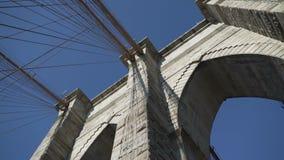 Brooklyn Bridge towers stock video footage