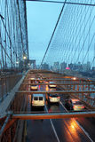 Brooklyn bridge traffic Royalty Free Stock Images