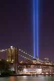 Brooklyn Bridge Tribute In Light Stock Photography