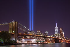 Brooklyn Bridge Tribute In Light Stock Images