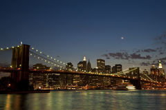 Brooklyn Bridge by twilight Royalty Free Stock Photos