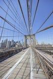 Brooklyn Bridge ultra wide angle image Stock Image