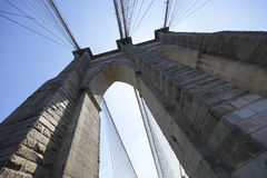 Brooklyn Bridge ultra wide angle image Royalty Free Stock Images