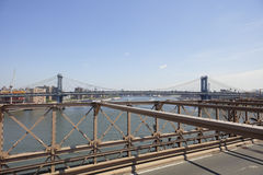Brooklyn Bridge ultra wide angle image Royalty Free Stock Photo