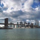 Brooklyn Bridge. View of the Brooklyn Bridge and Lower Manhattan Royalty Free Stock Photography