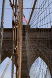 Brooklyn Bridge. Brooklyn Bridge - view from the middle Stock Images