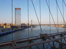 Brooklyn Bridge View on New York City royalty free stock image