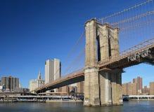 Brooklyn Bridge. View of Brooklyn Bridge at sunny day Royalty Free Stock Photos