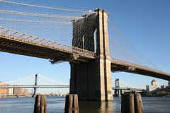Brooklyn bridge, view to Brooklyn Stock Photography