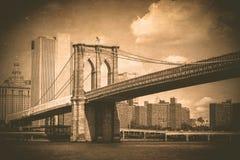 Brooklyn Bridge Vintage Royalty Free Stock Photos