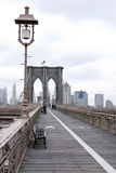 Brooklyn Bridge Walkway Stock Photos