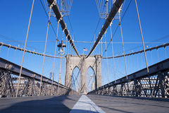 Brooklyn Bridge Walkway New York City Stock Image