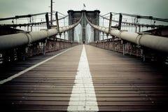 Brooklyn Bridge Walkway Royalty Free Stock Photos