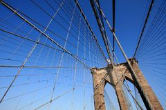Brooklyn Bridge Web of Cables Stock Photo