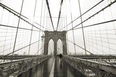 Brooklyn Bridge Wide Angle Royalty Free Stock Photos